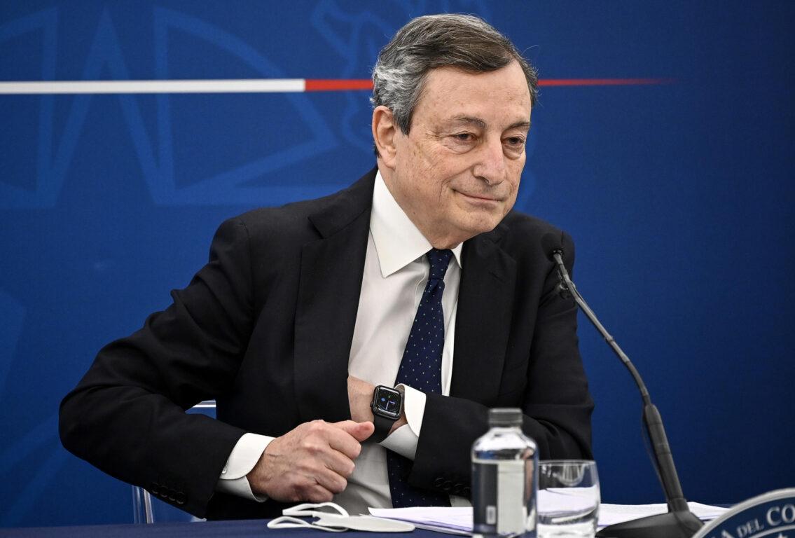 Draghi illustra in Conferenza Stampa il Decreto Sostegni - IL PENDOLO
